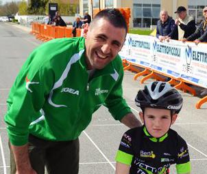 Aldo Zanetti with son Alessandro