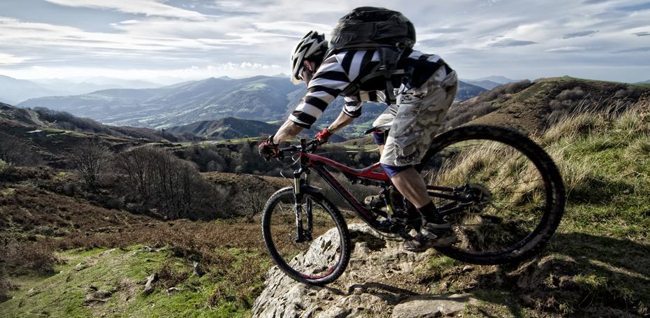 Biker downhill