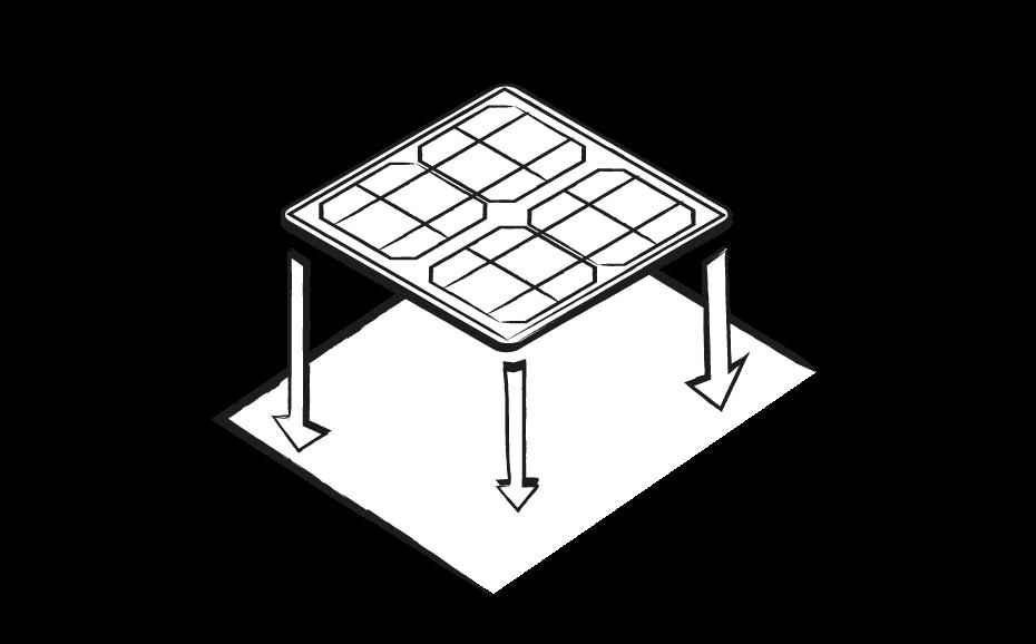 Fissaggio Pannello Solare Flessibile : Fissaggio dei pannelli solari flessibili tregoo