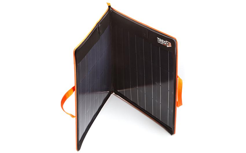 Pannello Solare Portatile Pieghevole : Hippy tregoo pannello solare portatile