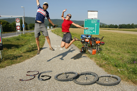 Anita e Andreas - cicloturismo estremo
