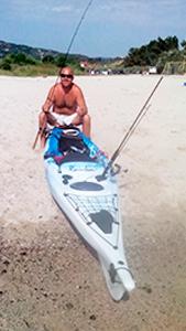 Luca e il suo Kayak