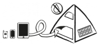 PV tent for mobile device