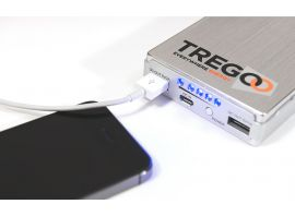 Example of iPhone connection with Lizard 50 Power Pack