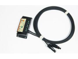 Con ogni pannello solare è incluso un regolatore di carica e 3 metri di cavi con connettori MC4