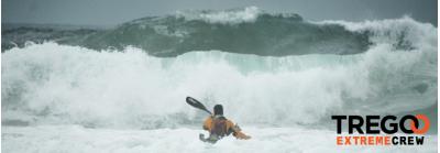 Robert's kayak into the storm