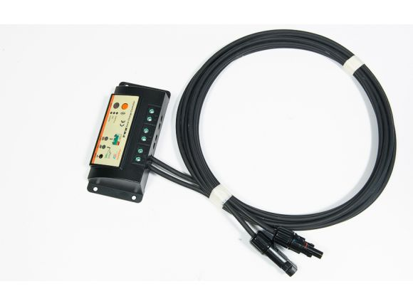 Each Ultra Light PV Panel includes a charge controller and 3 meters of cable with MC4 connectors